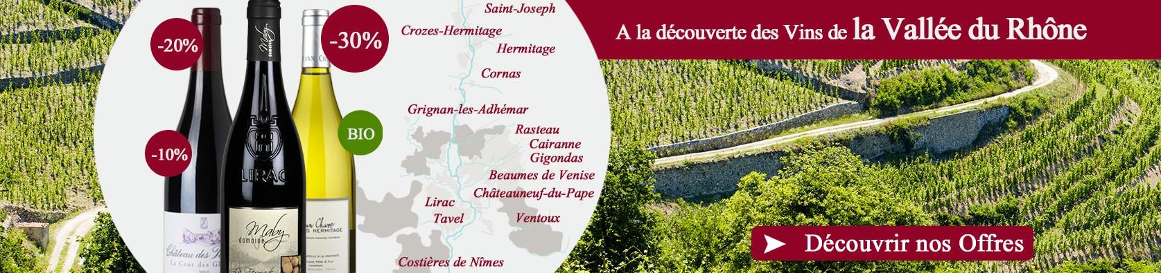 Découvrez notre sélection Spéciale Vallée du Rhône