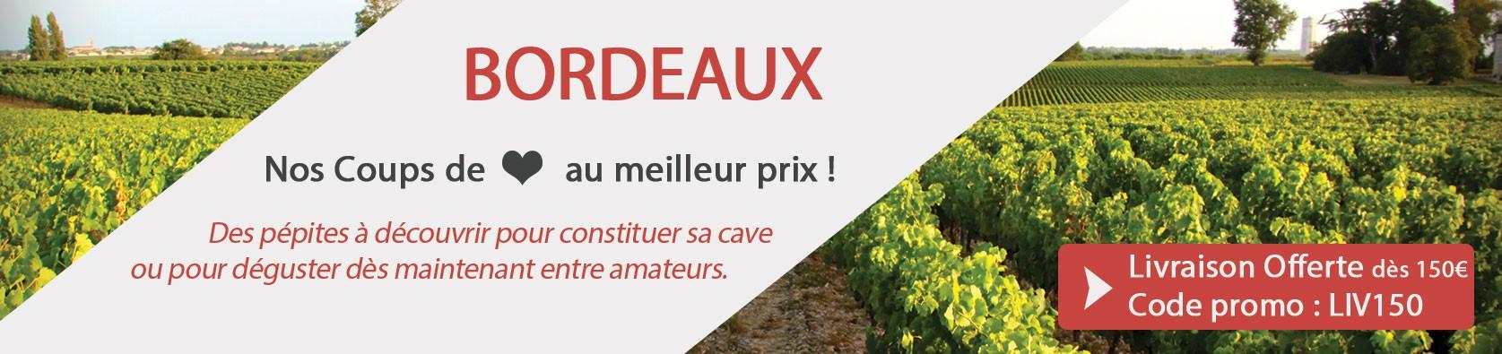 Découvrez notre sélection de Vins de Bordeaux
