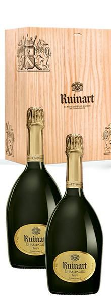 champagne ruinart coffret 2 bouteilles
