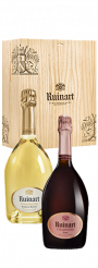 """Coffret duo Ruinart """"Blanc de Blanc et Brut Rosé"""""""