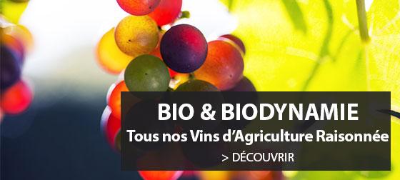 Découvrez l'ensemble des vins issus de l'agriculture raisonnée